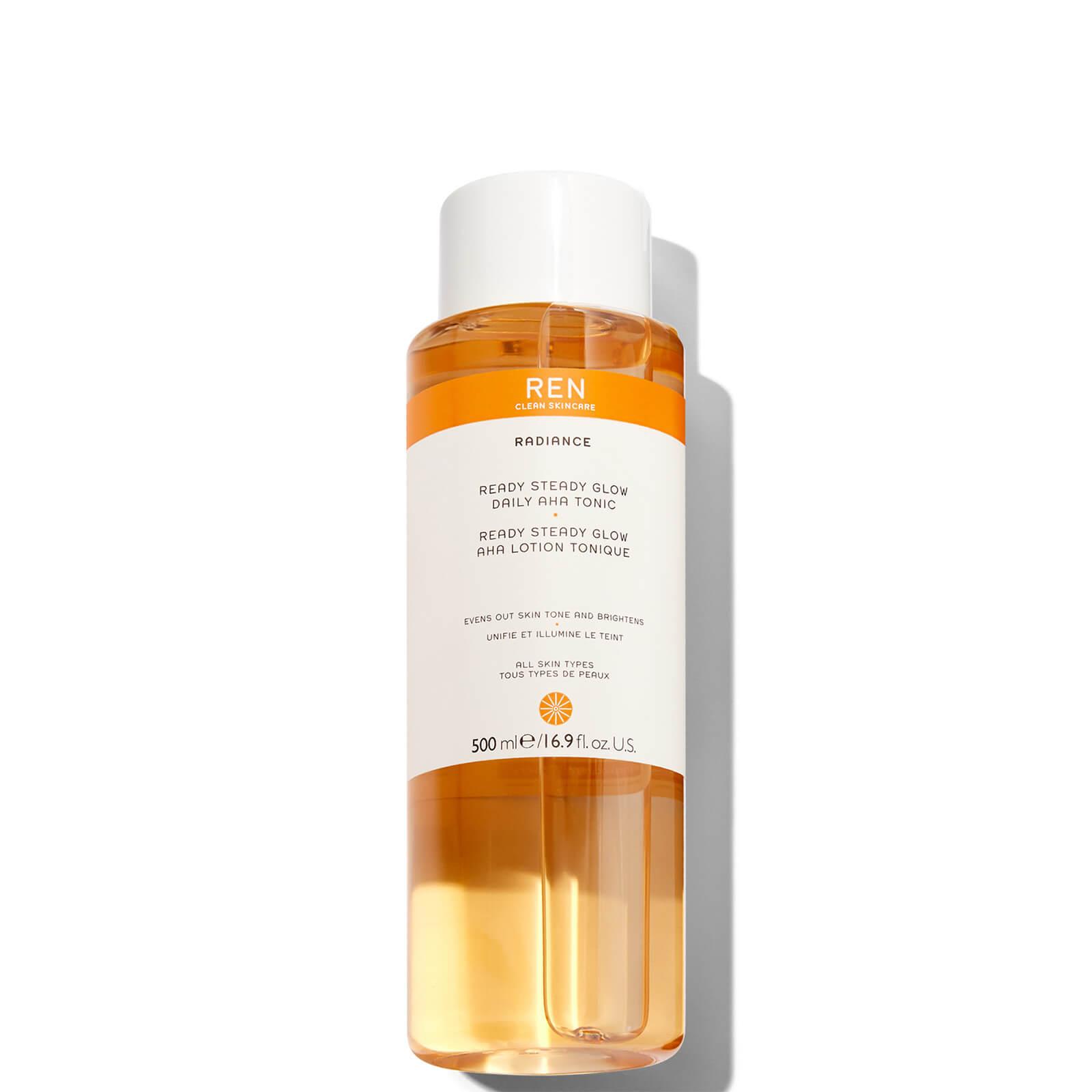 Купить REN Clean Skincare Supersize Ready Steady Glow Daily AHA Tonic 500ml