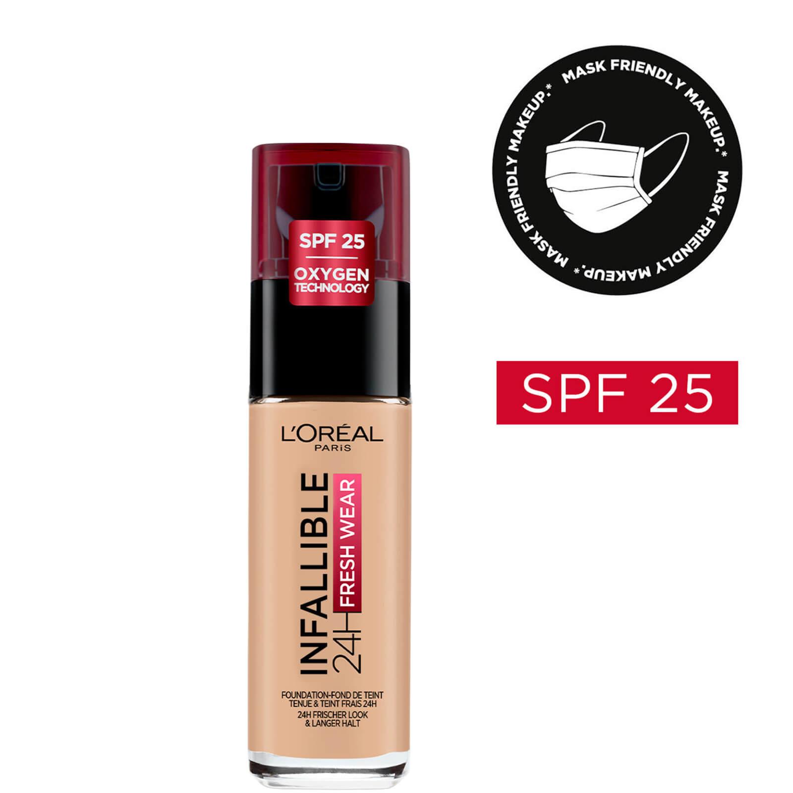 Купить L'Oréal Paris Infallible 24hr Freshwear Liquid Foundation (Various Shades) - 125 Natural Rose