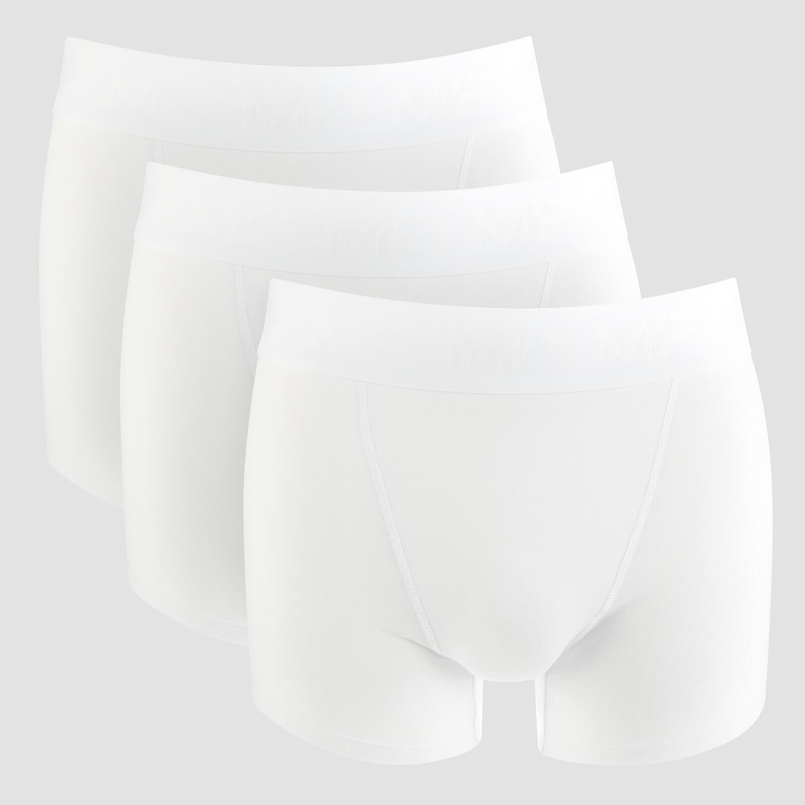 Boxer d'Entraînement Essentials - Blanc (Paquet de 3) - XXL