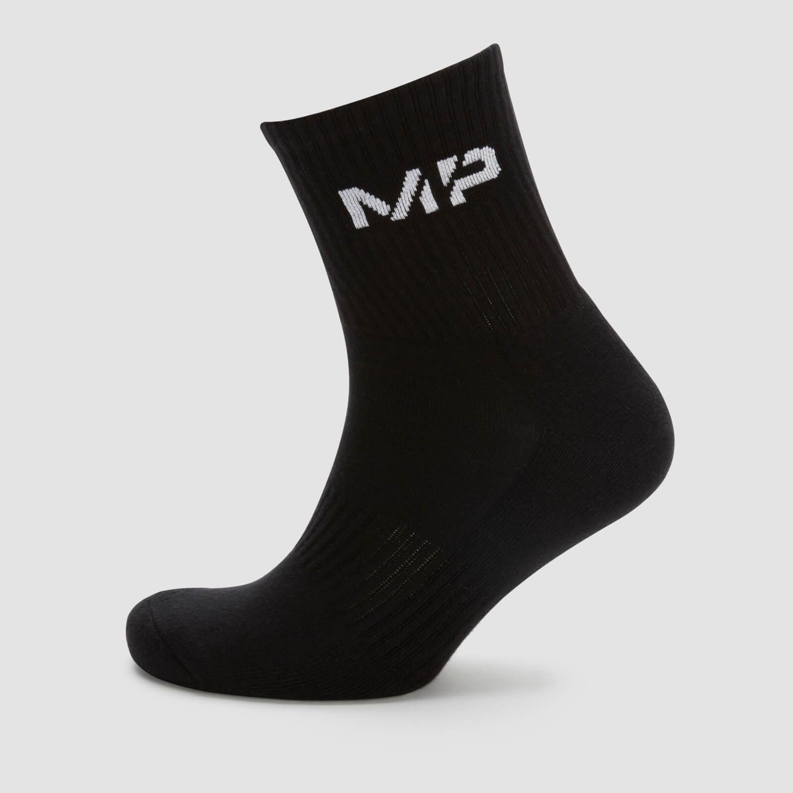 Chaussettes de tennis pour homme - Noir - UK 9-12