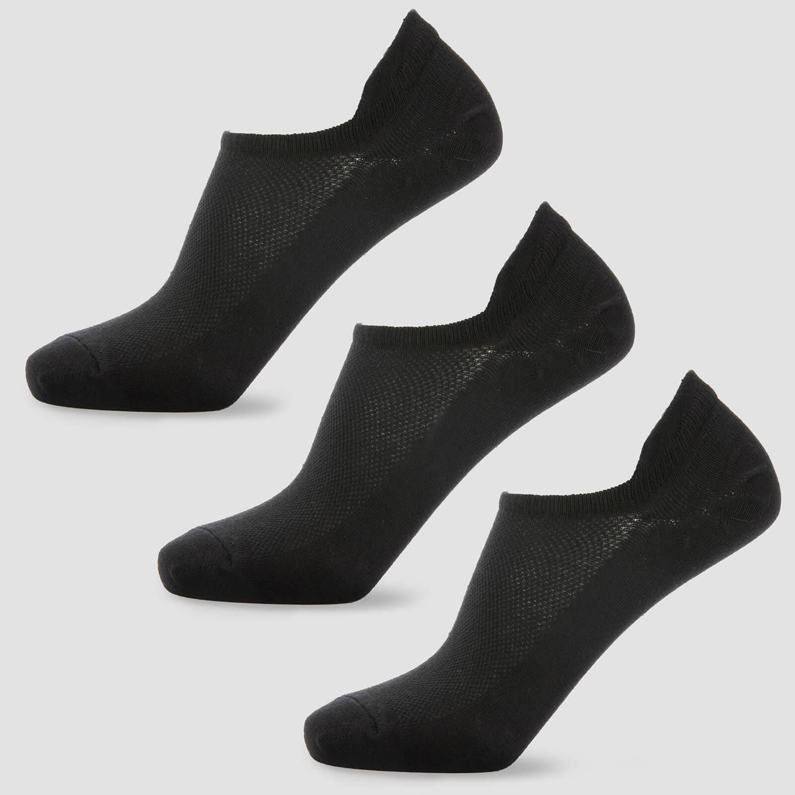 Chaussettes courtes pour femme - Noires - UK 3-6