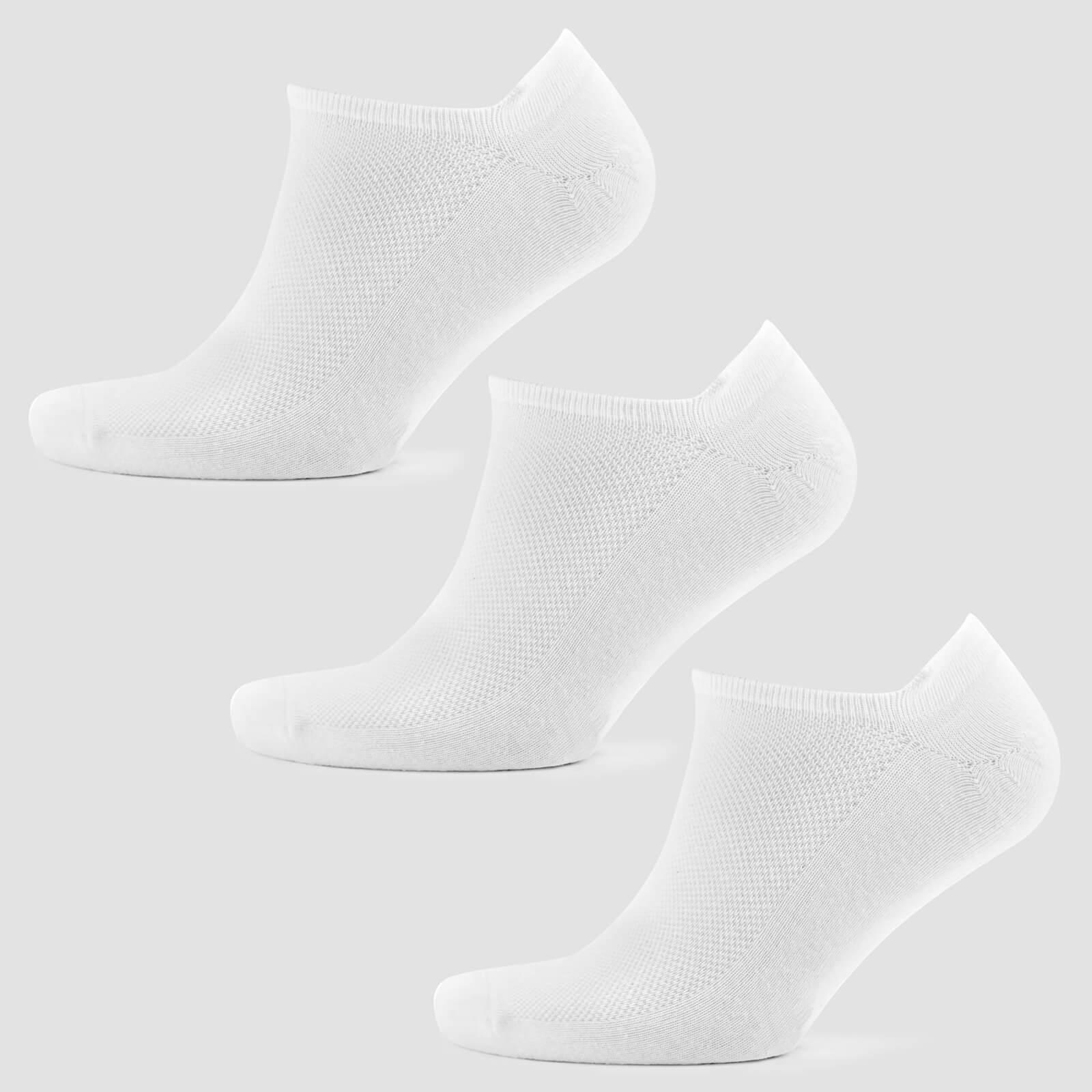 Chaussettes courtes pour homme - Blanches - UK 6-8