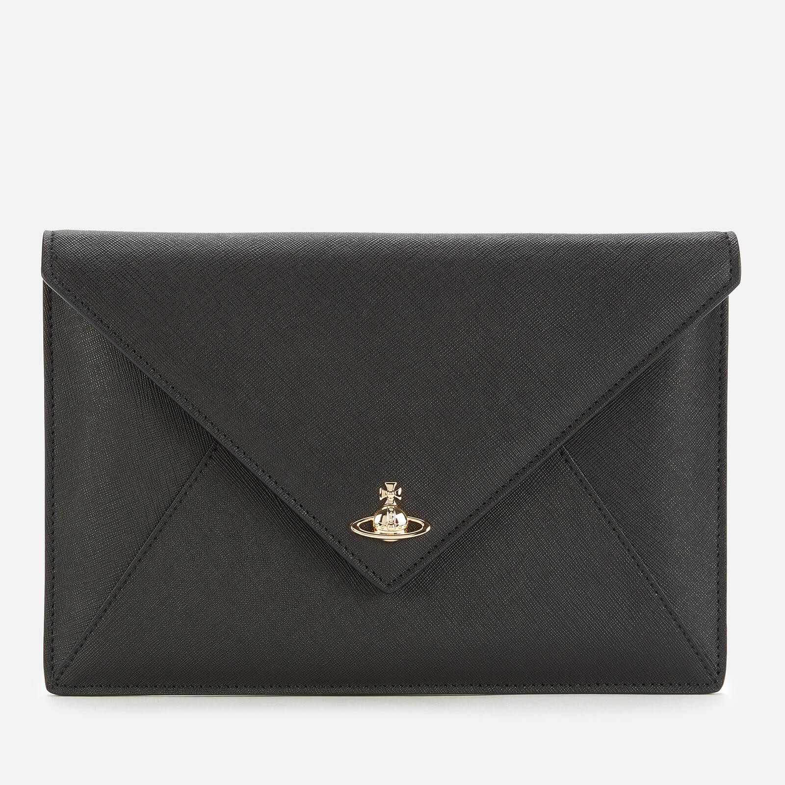 Vivienne Westwood Women's Victoria Envelope Clutch Bag - Black