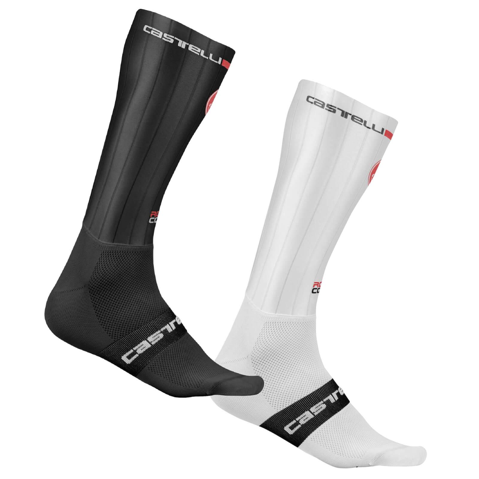 Castelli Fast Feet Socks - L-XL - White