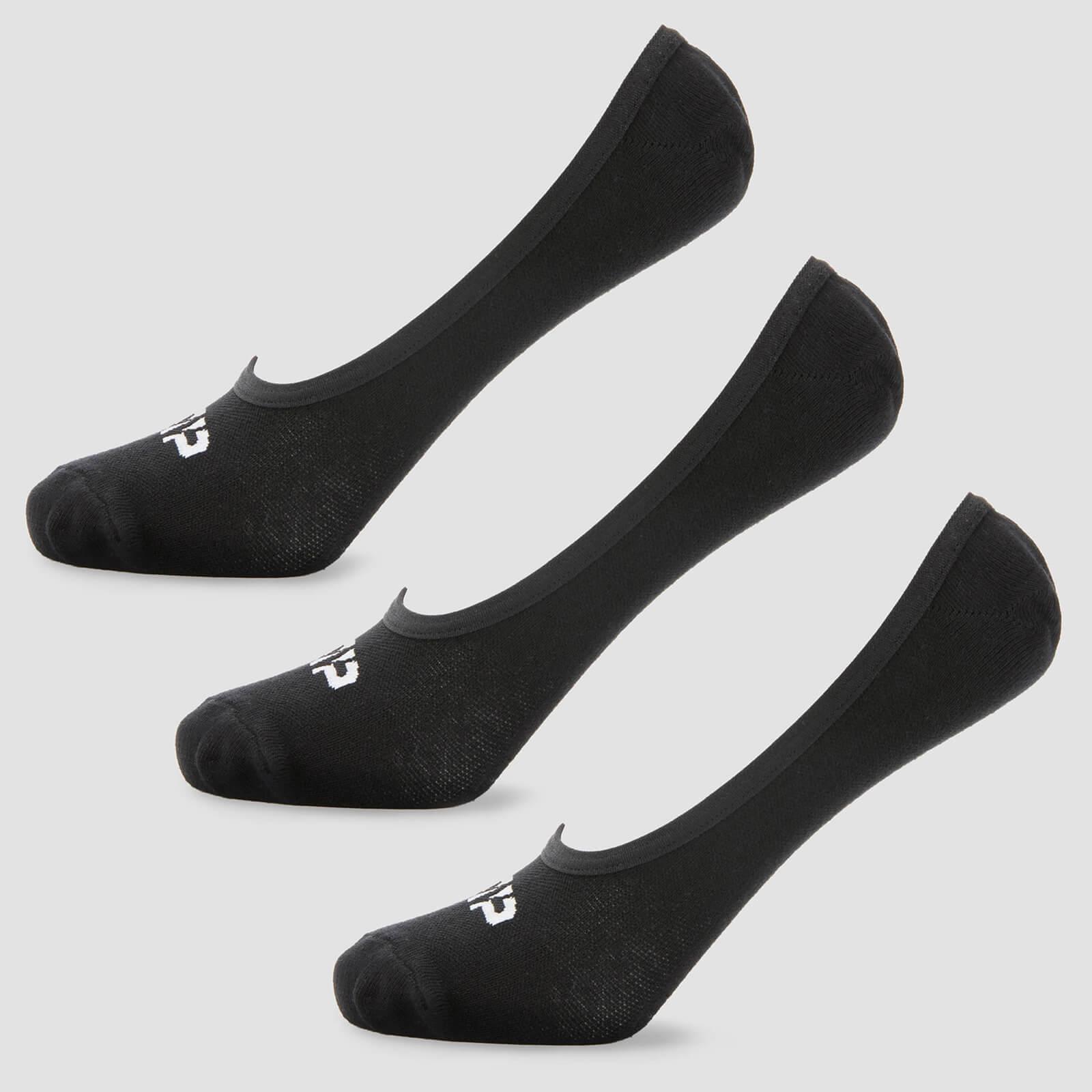 Chaussettes invisibles pour homme - Noir - UK 9-12