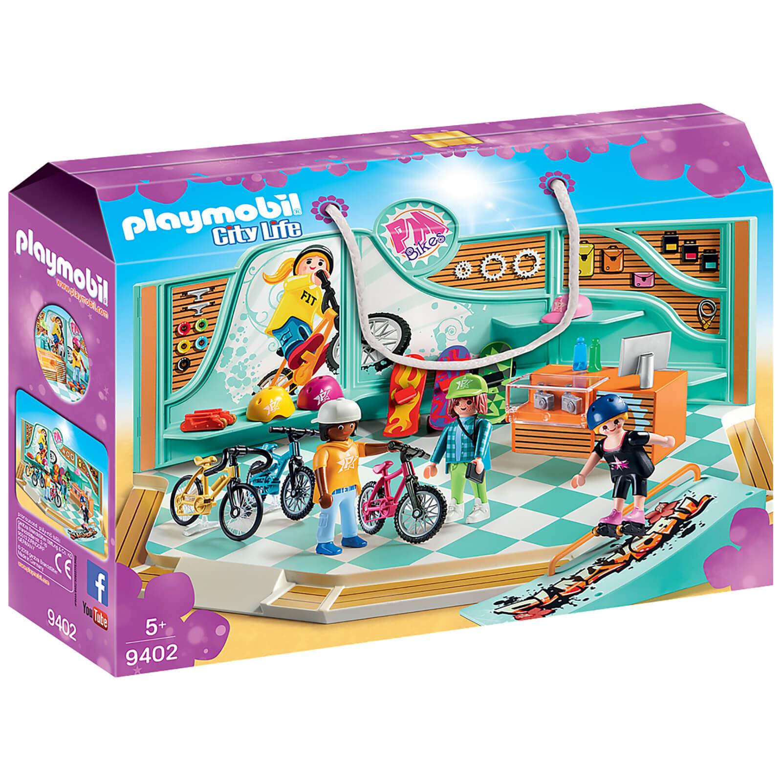 Playmobil City Life Bike And Skate Shop With Ramp (9402)