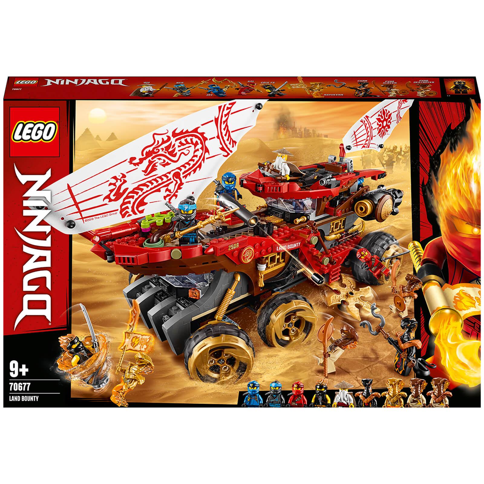 Image of LEGO NINJAGO: Land Bounty Toy Truck Ninja Car for Kids (70677)