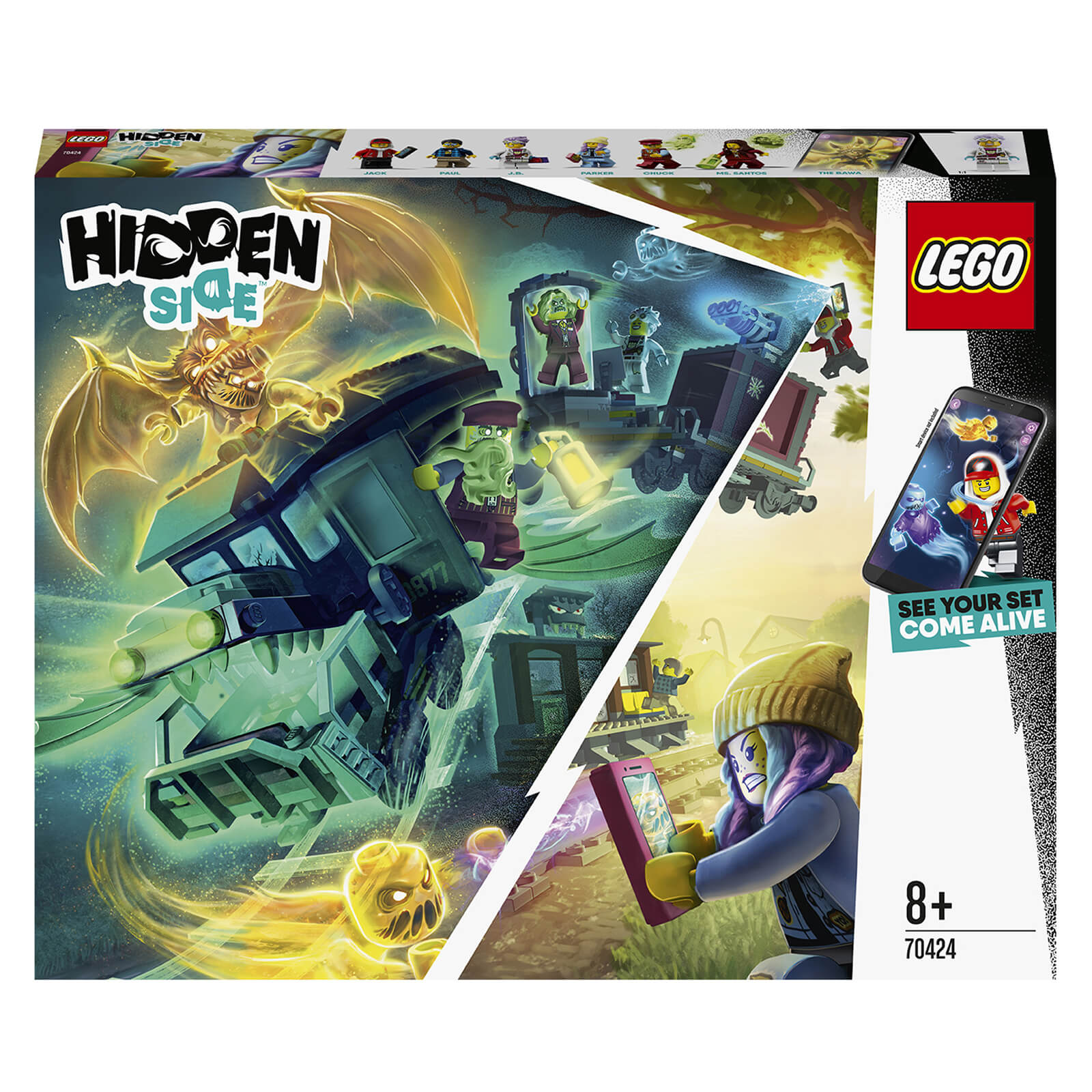 Image of LEGO Hidden Side: Ghost Train Express with AR Games Set (70424)