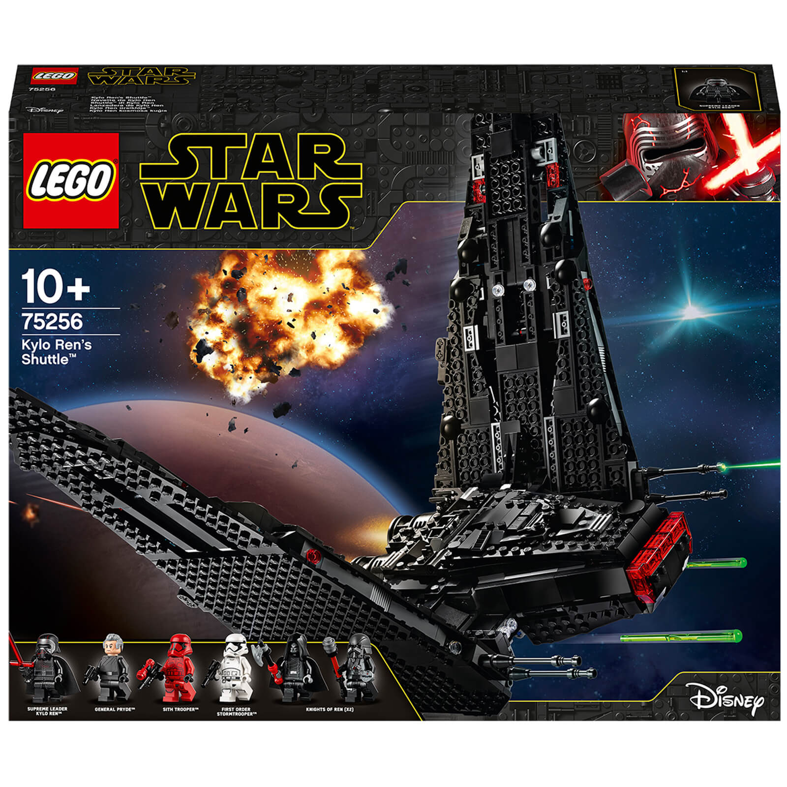 Image of LEGO Star Wars: Kylo Ren's Shuttle Building Set (75256)