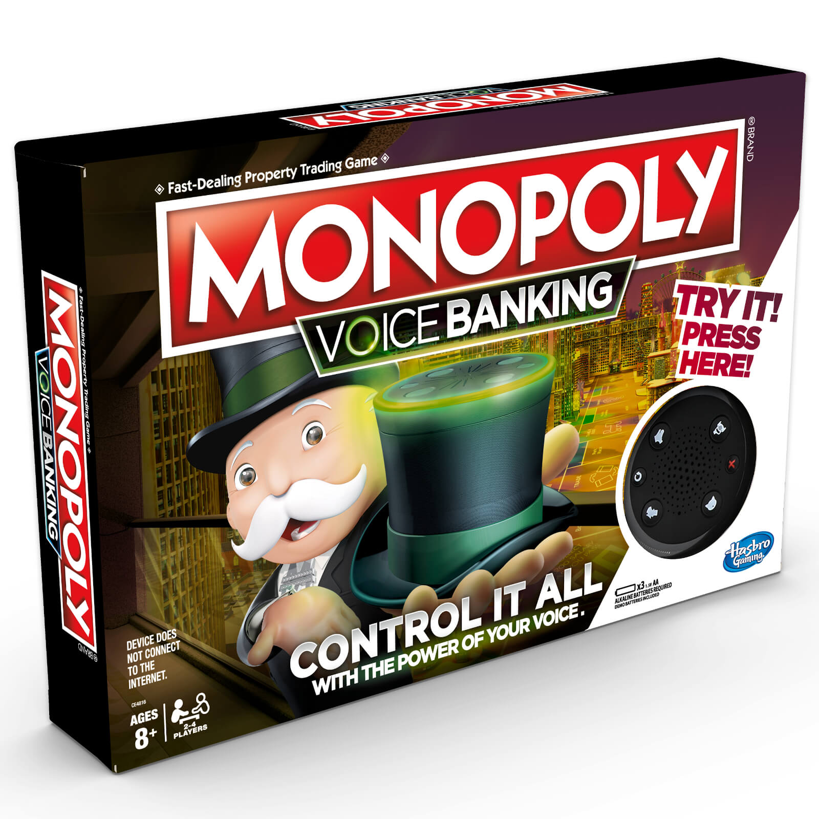 Image of Hasbro Monopoly Voice Banking Electronic Family Board Game