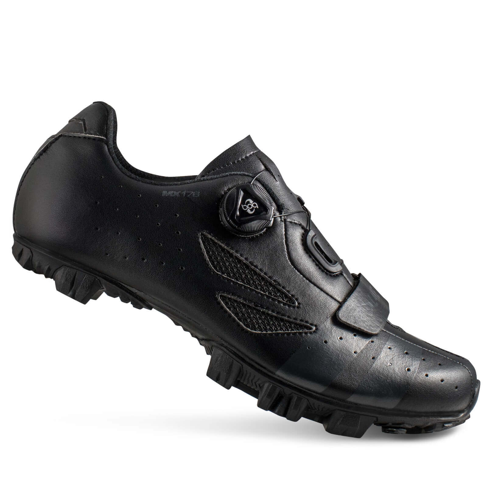 Lake MX176 MTB Shoes - EU 45 - Schwarz/Grau