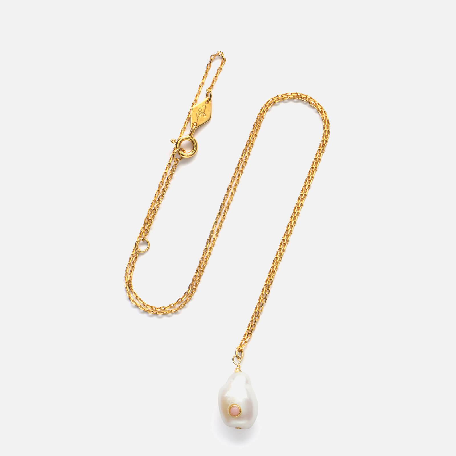 Anni Lu Women's Baroque Pearl Necklace - Coral