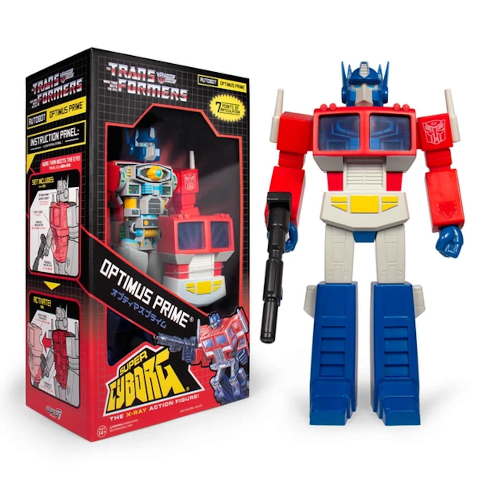 Statuetta di Optimus Prime da Transformers, Super Cyborg - Super7