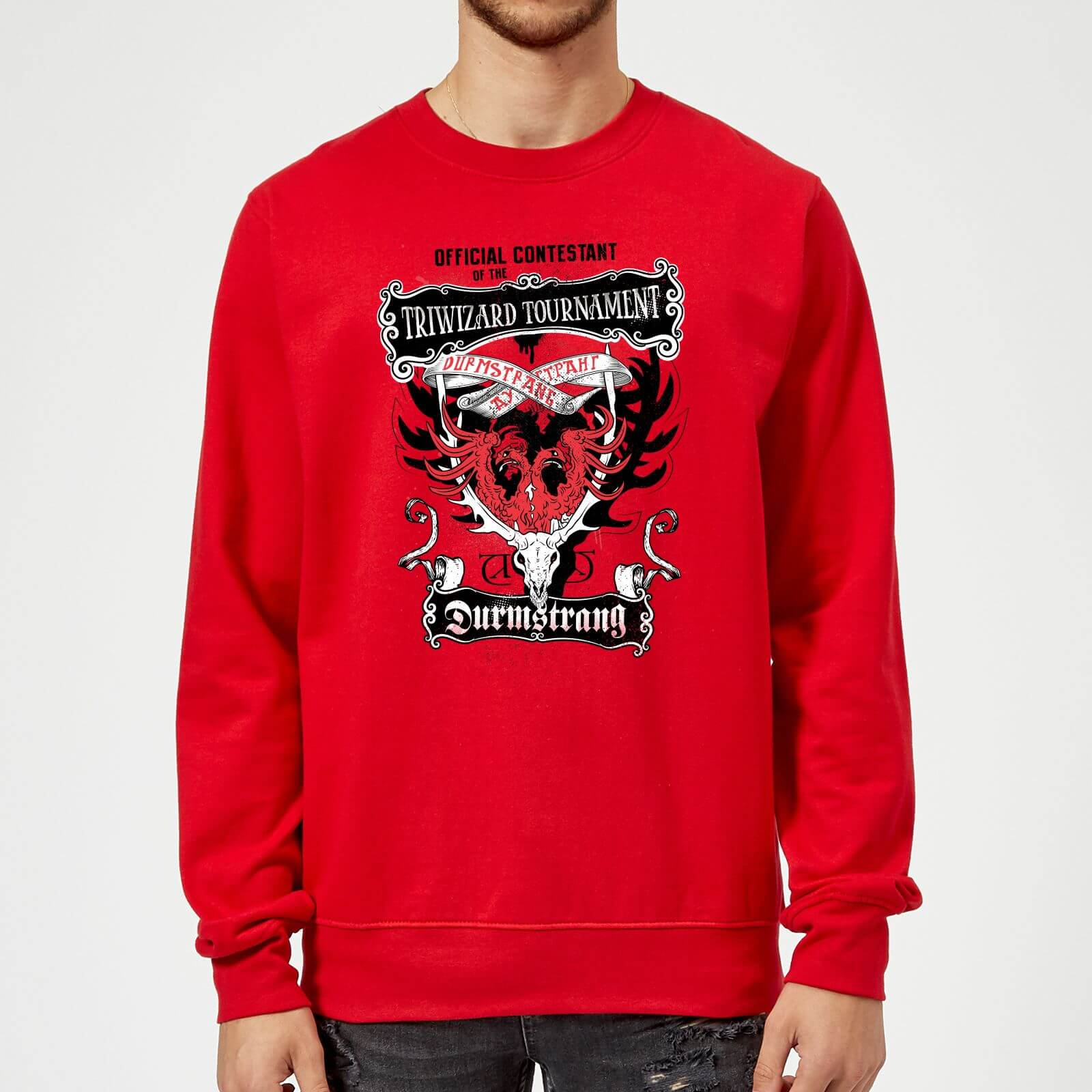 Harry Potter Triwizard Tournament Durmstrang Sweatshirt Red My Geek Box Us Each triwizard tournament designates a new champion from hogwarts, beauxbatons, and durmstrang to compete and represent their entire school. my geek box