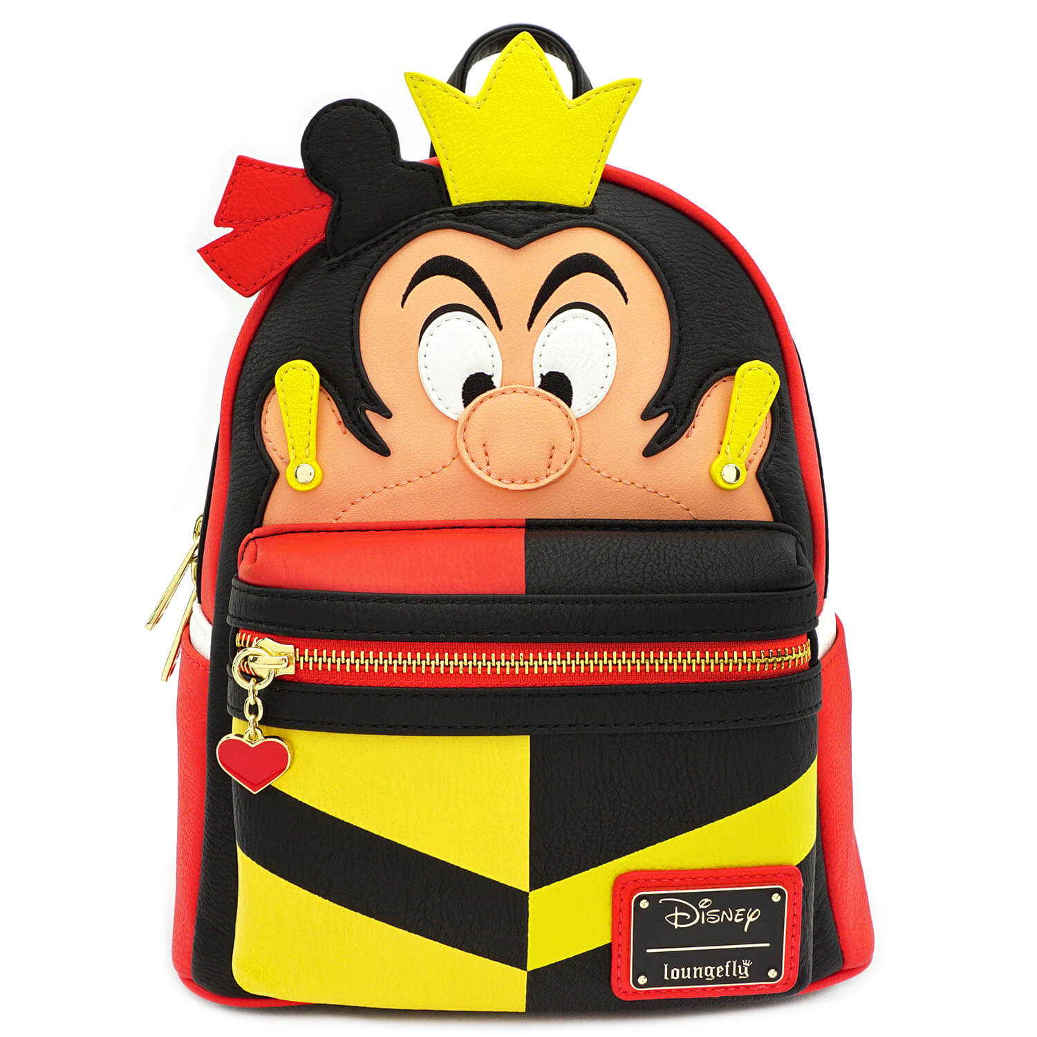 Image of Loungefly Disney Queen Of Hearts Faux Leather Mini Backpack