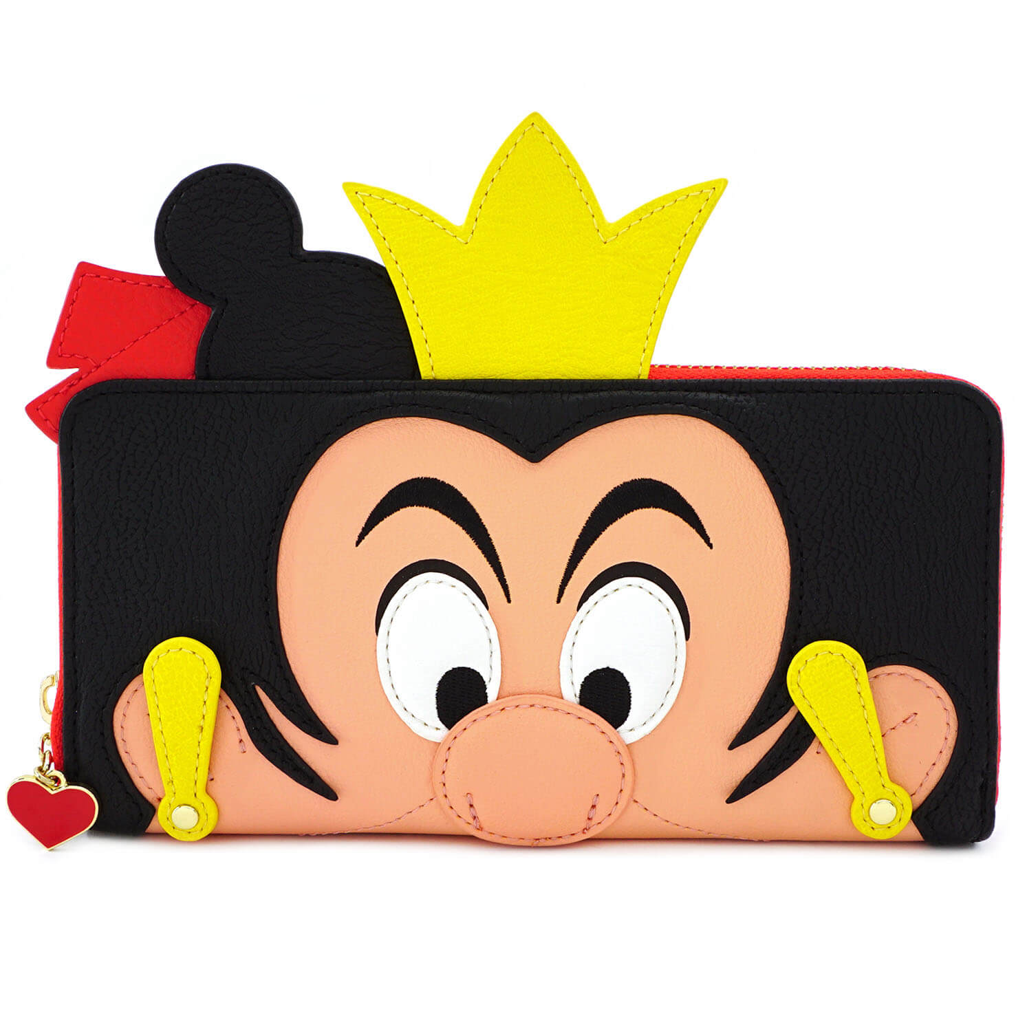 Image of Loungefly Disney Queen Of Hearts Faux Leather Zip Around Purse