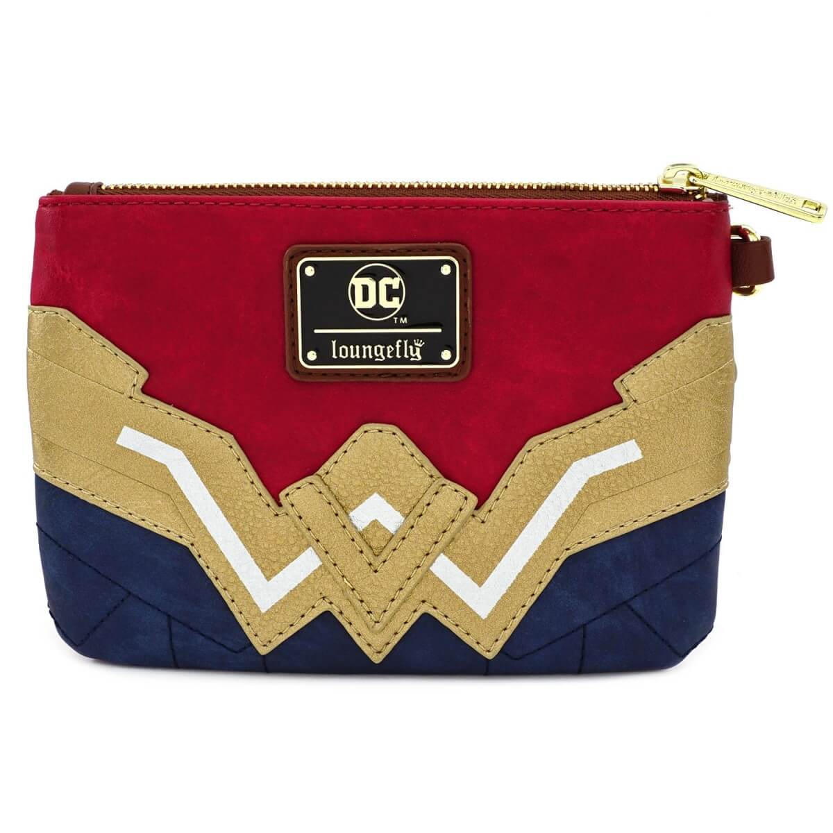 Image of Loungefly DC Comics Wonder Woman Faux Leather Wristlet