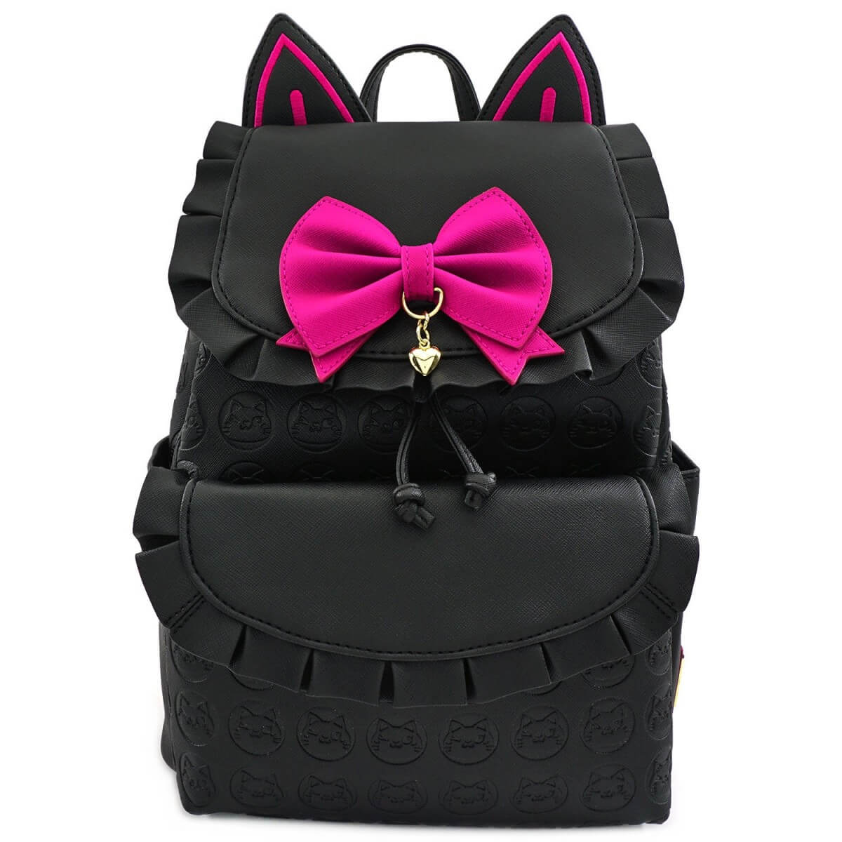 Image of Loungefly Overwatch Faux Leather Drawstring Mini Backpack