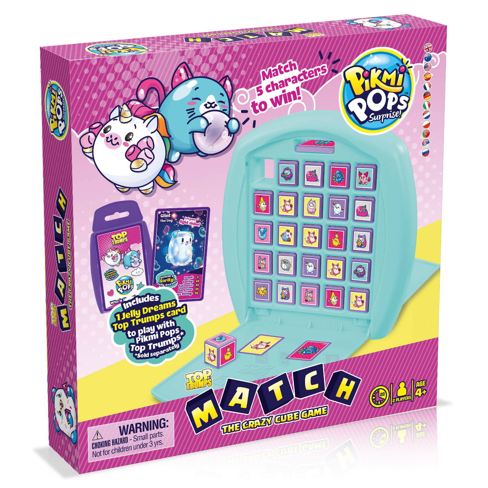 Image of Top Trumps Match Board Game - Pikmi Pops Edition