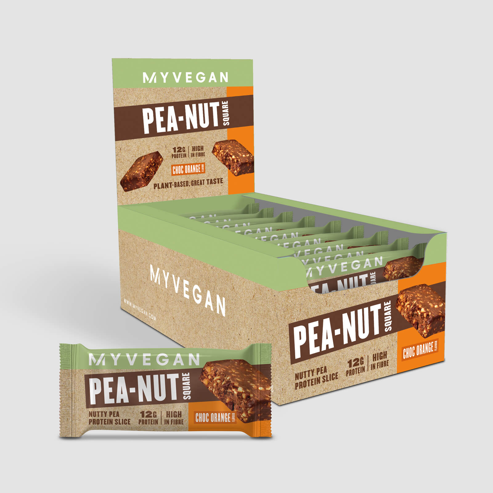 Pea-Nut Square - Choc Orange