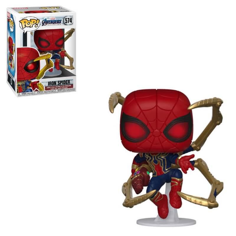 Marvel Avengers: Endgame - Iron Spider mit Nano Gauntlet Pop! Vinyl Figur
