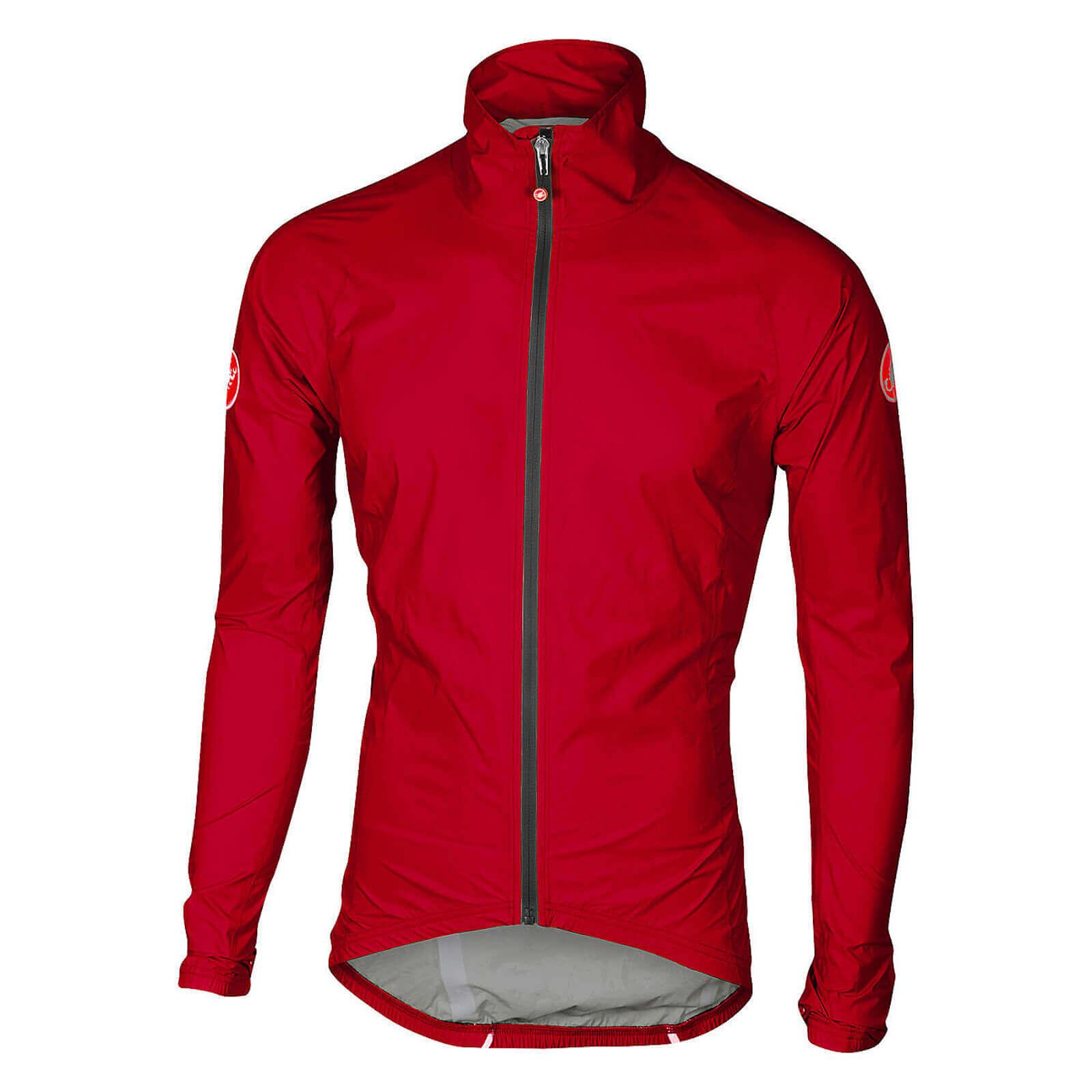 Castelli Emergency Rain Jacket - M - Red