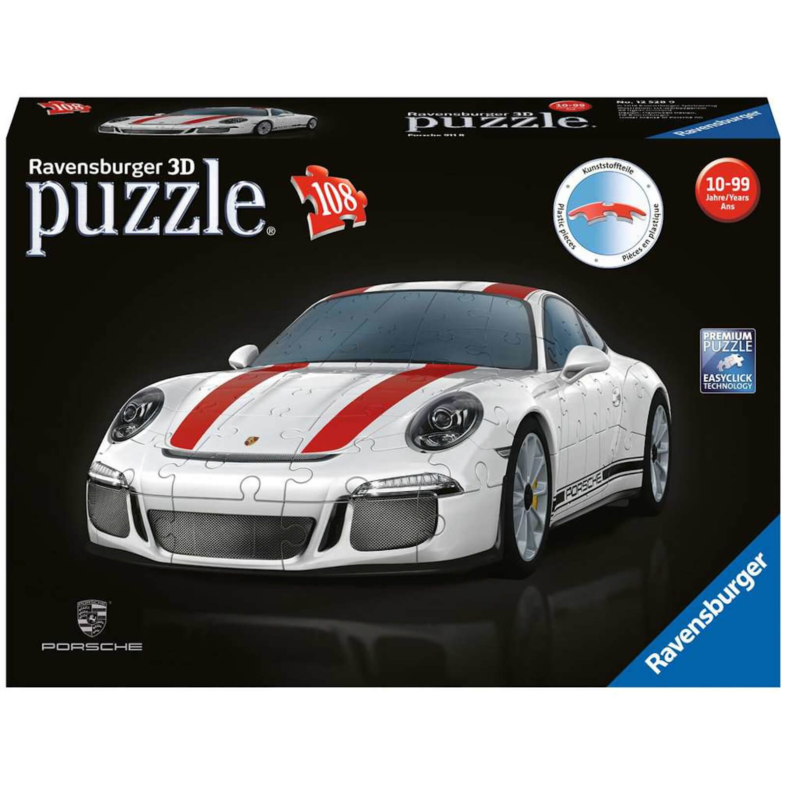 Image of Ravensburger Porsche 911 3D Jigsaw Puzzle (108 Pieces)