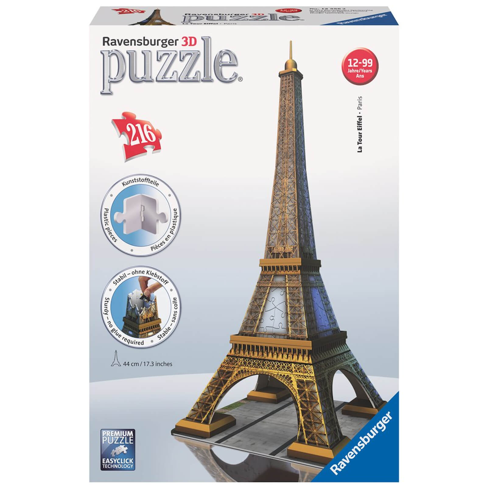 Image of Ravensburger Eiffel Tower Building 3D Jigsaw Puzzle (216 Pieces)