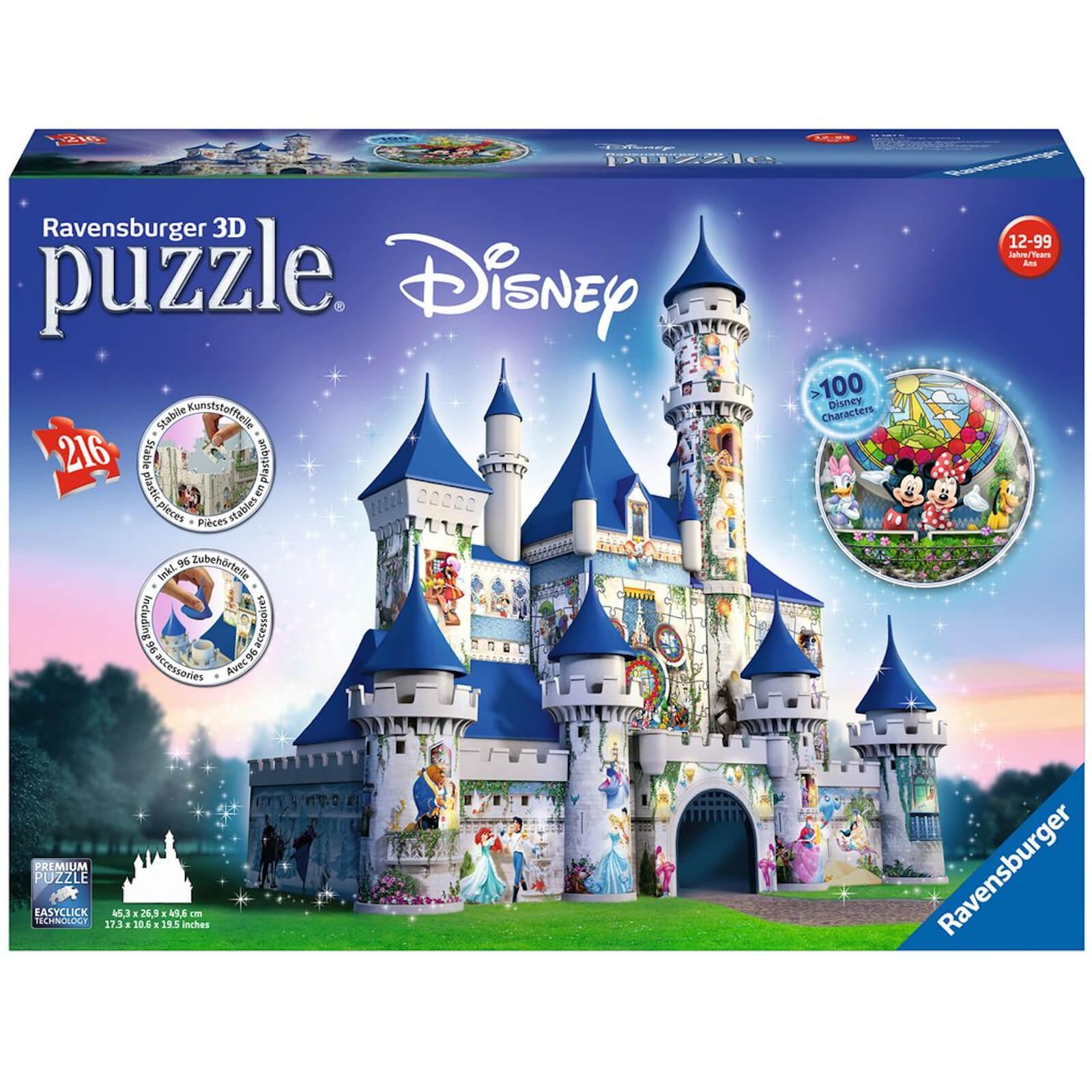 Image of Ravensburger Disney Castle 3D Jigsaw Puzzle (216 Pieces)