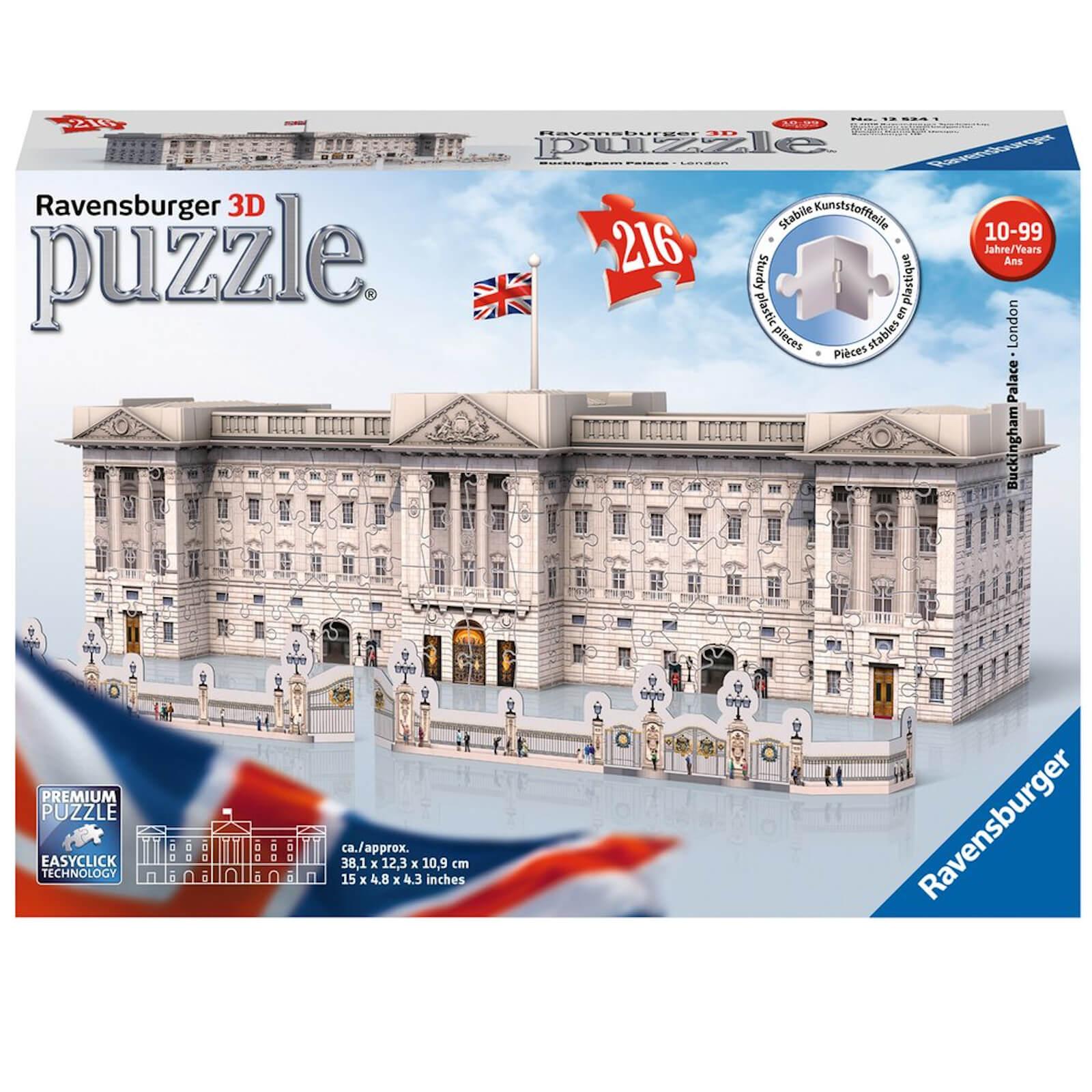 Image of Ravensburger Buckingham Palace 3D Jigsaw Puzzle (216 Pieces)