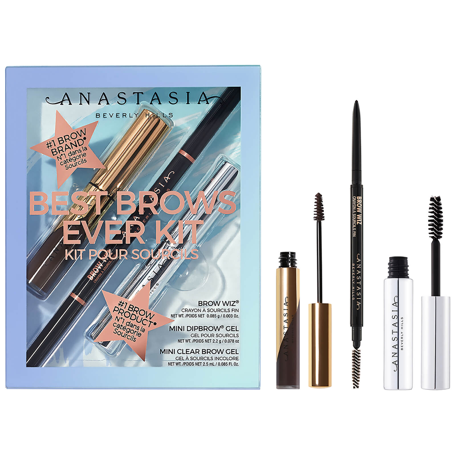 Anastasia Beverly Hills Brow Kit #2 Best Brows Ever 11.85g (Various Shades) - Ebony