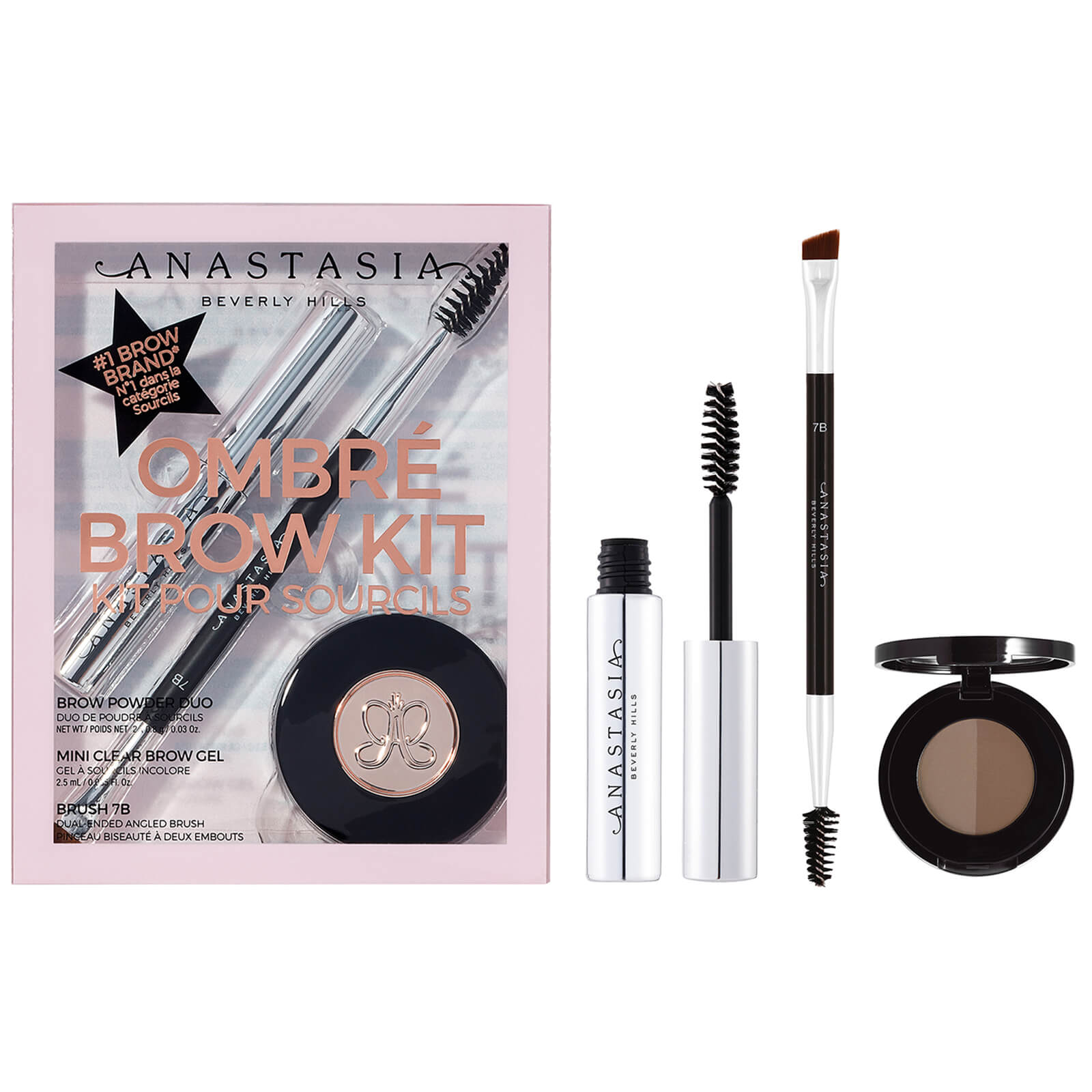 Anastasia Beverly Hills Brow Kit #3 Ombre Brow Kit 8.97g (Various Shades) - Soft Brown