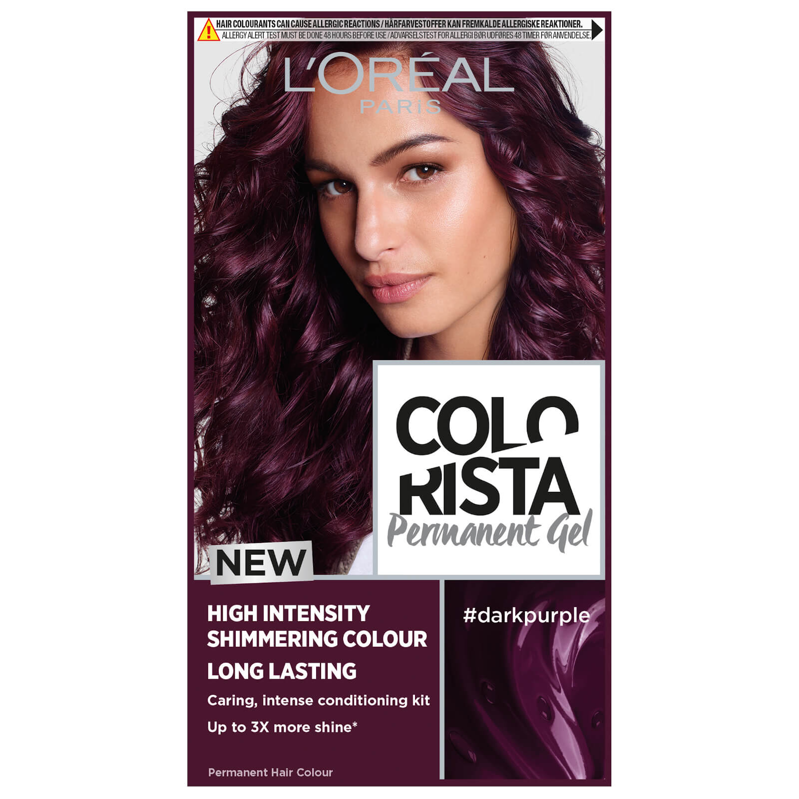 L'Oréal Paris Colorista Permanent Gel Hair Dye (Various Shades) - Dark Purple
