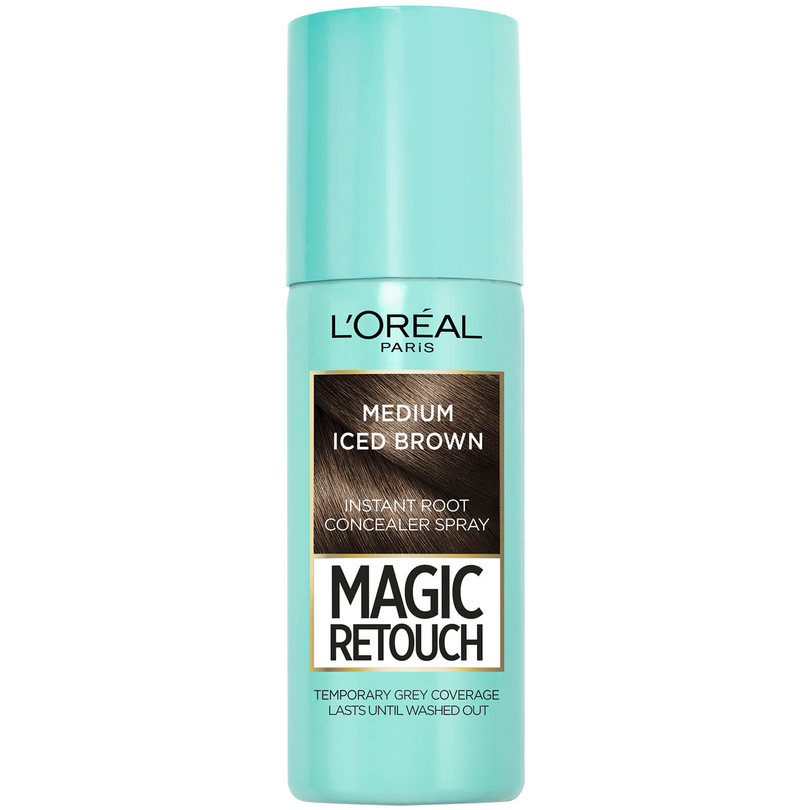 L'Oréal Paris Magic Retouch Temporary Instant Root Concealer Spray 75ml (Various Shades) - Medium Iced Brown