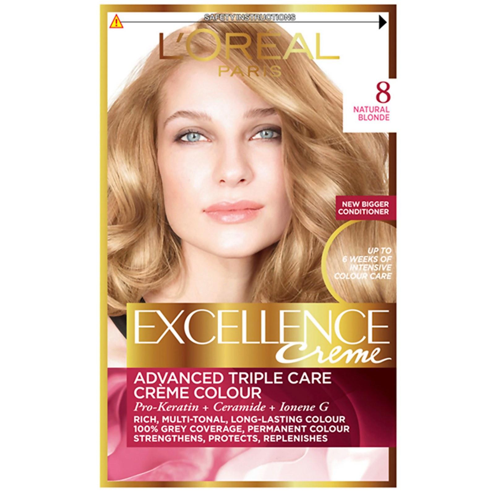 L'Oréal Paris Excellence Crème Permanent Hair Dye (Various Shades) - 8 Natural Blonde