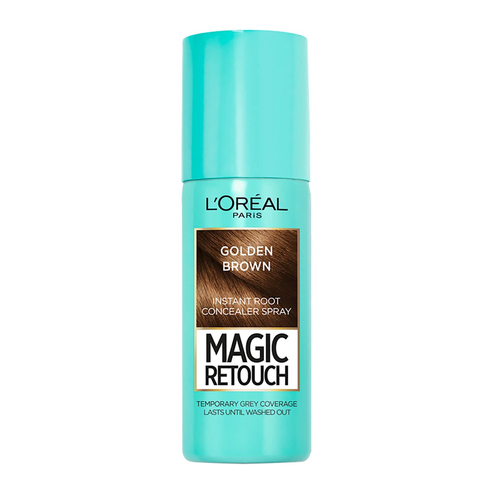 L'Oréal Paris Magic Retouch Temporary Instant Root Concealer Spray 75ml (Various Shades) - Golden Brown