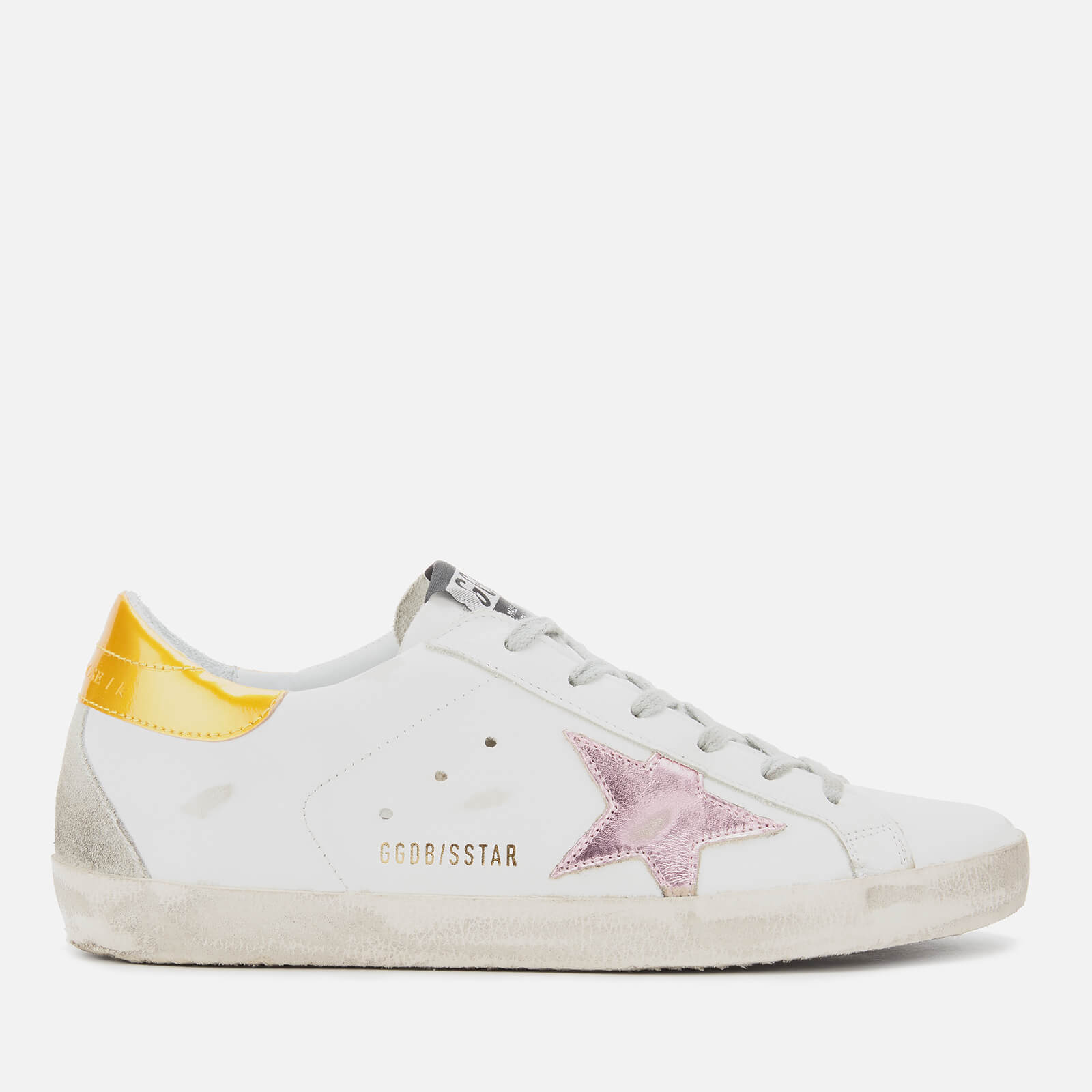 Golden Goose Deluxe Brand Women's Superstar Trainers - White Leather/Gold Pink Metallic Star