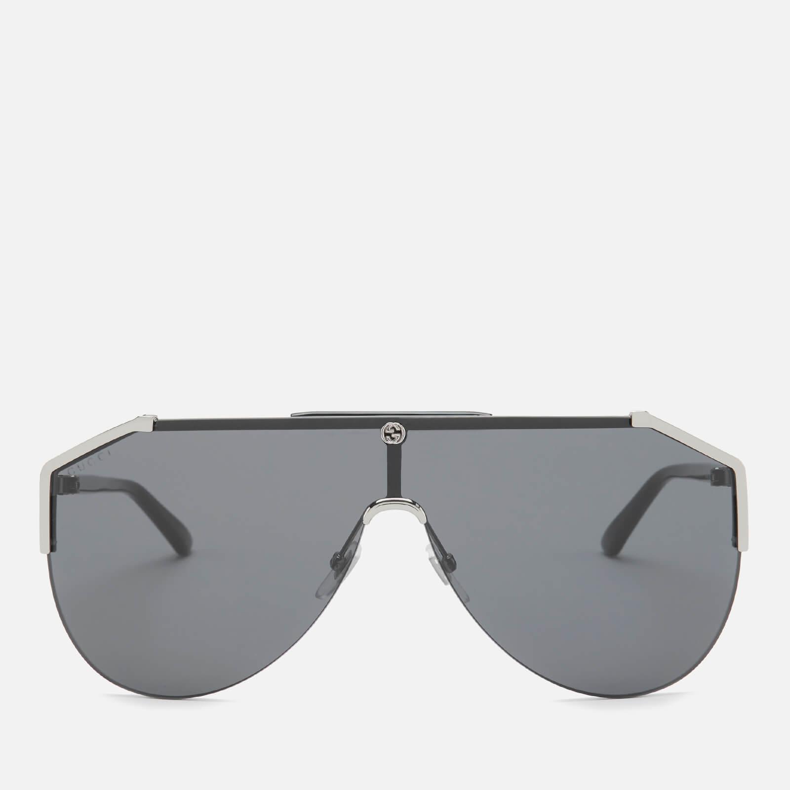 Gucci Men's Mask Sunglasses - Ruthenium/Black/Grey