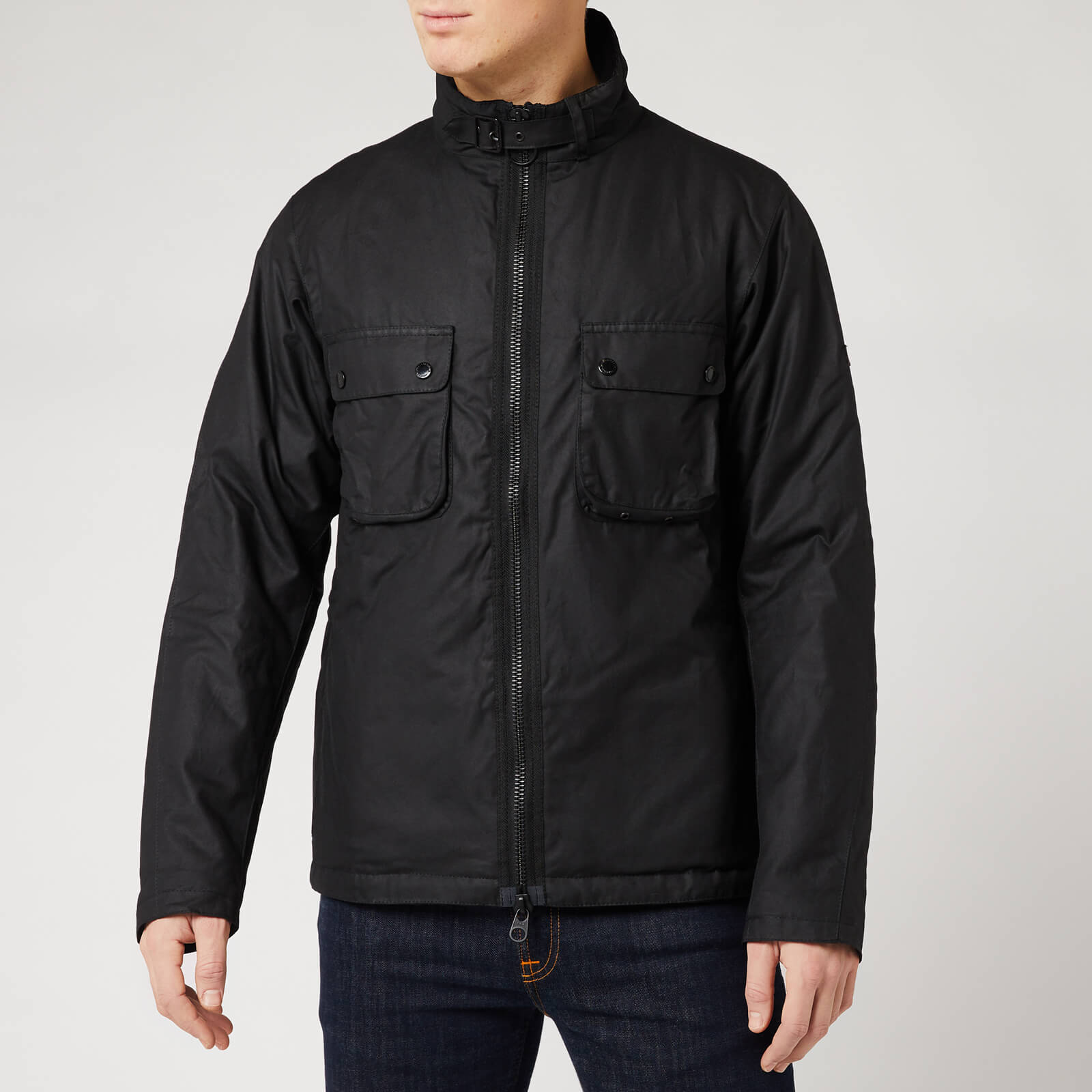 Barbour International Men's Tennant Wax Jacket - Black - S