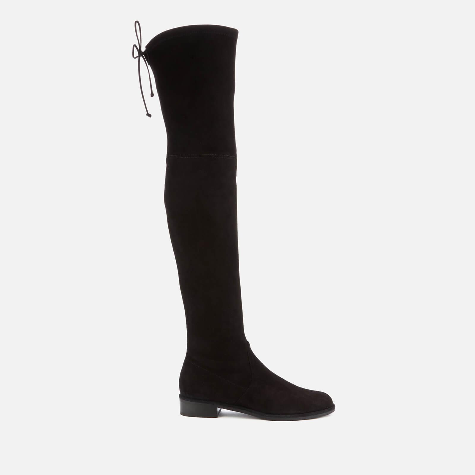 Stuart Weitzman Women's Lowland Suede Over The Knee Flat Boots - Black - Uk 3