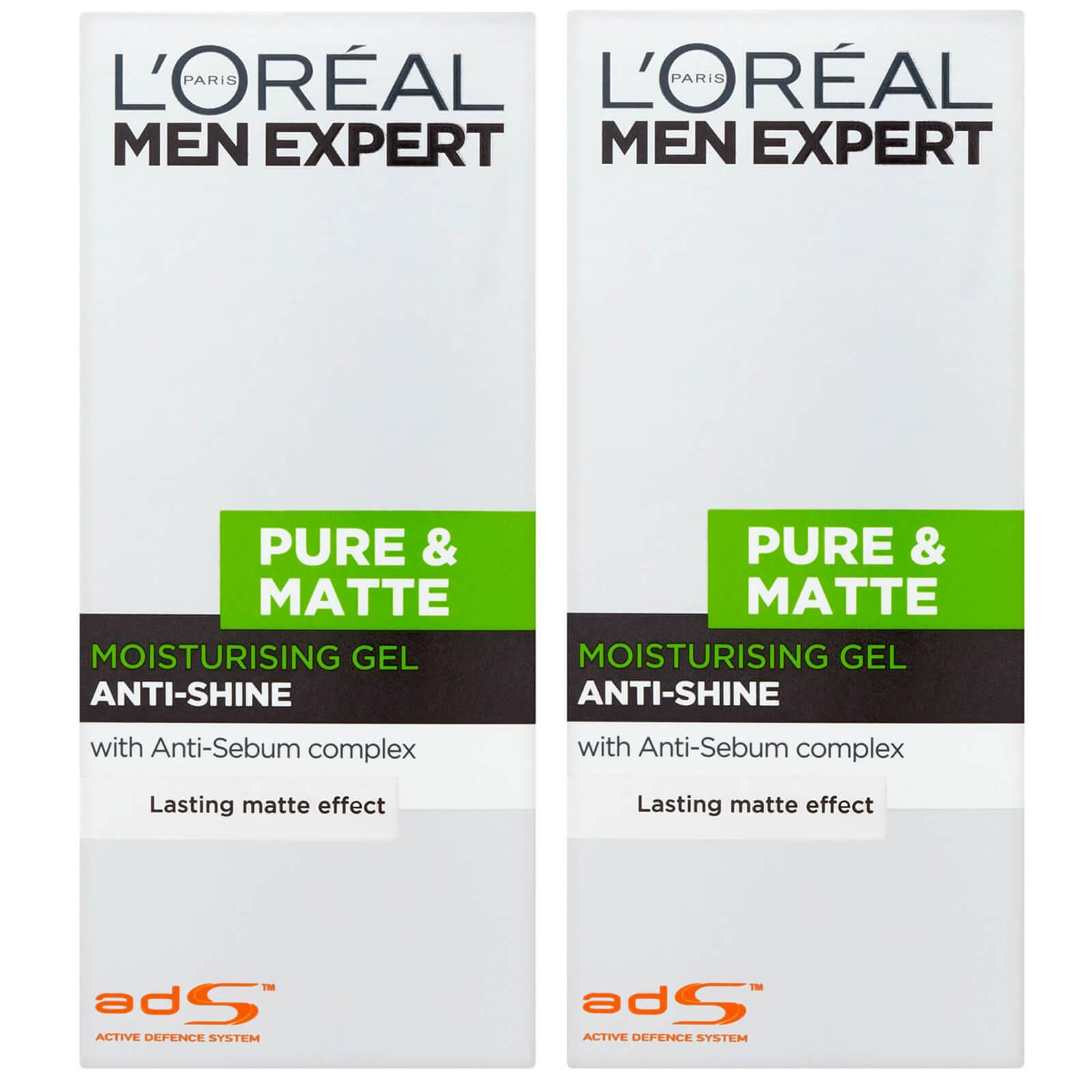 Купить L'Oréal Men Expert Pure and Matte Anti-Shine Gel Moisturiser for Oily Skin 50ml 2 Pack Exclusive