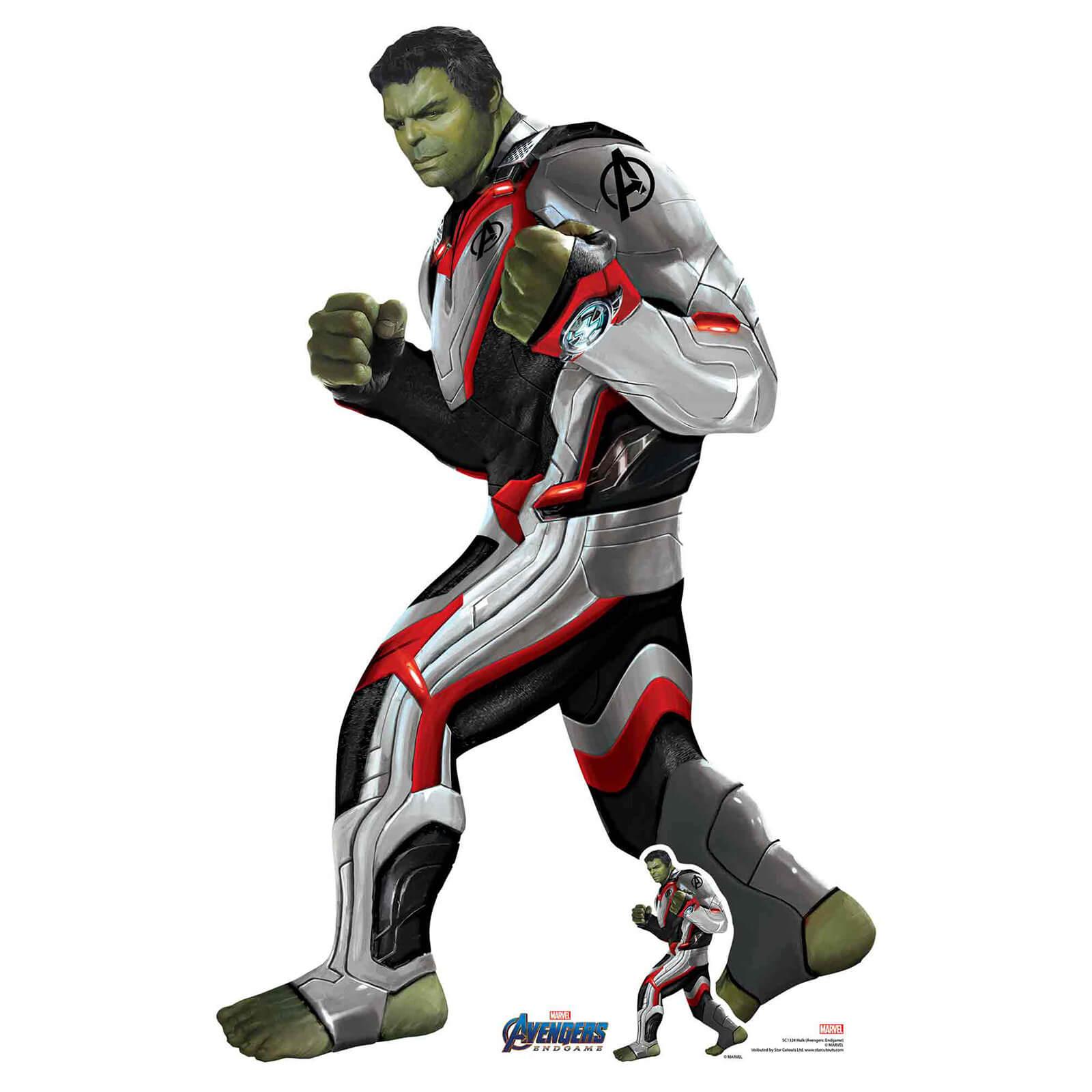 Image of Marvel Hulk (Quantum Suit) Avengers Endgame Mini Carboard Cut-Out