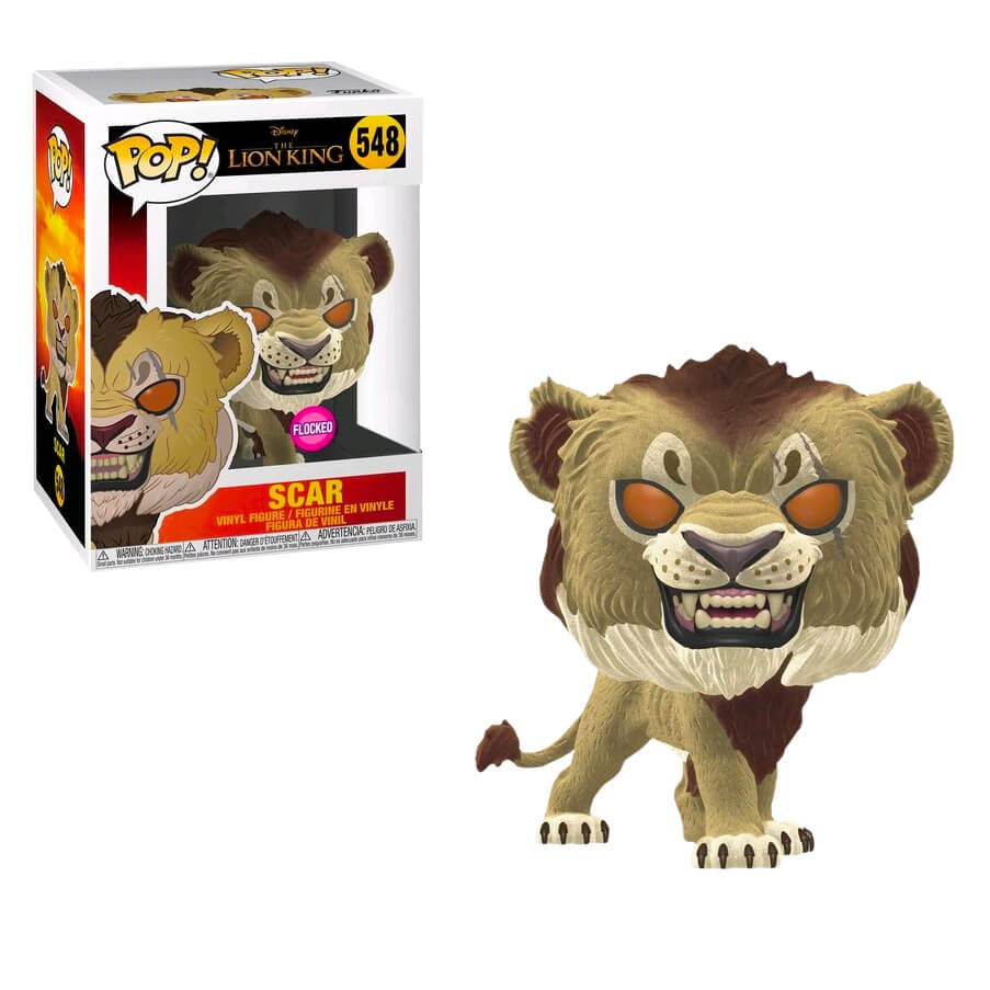 Figurine Pop! Scar (Flocked) - Disney Le Roi Lion