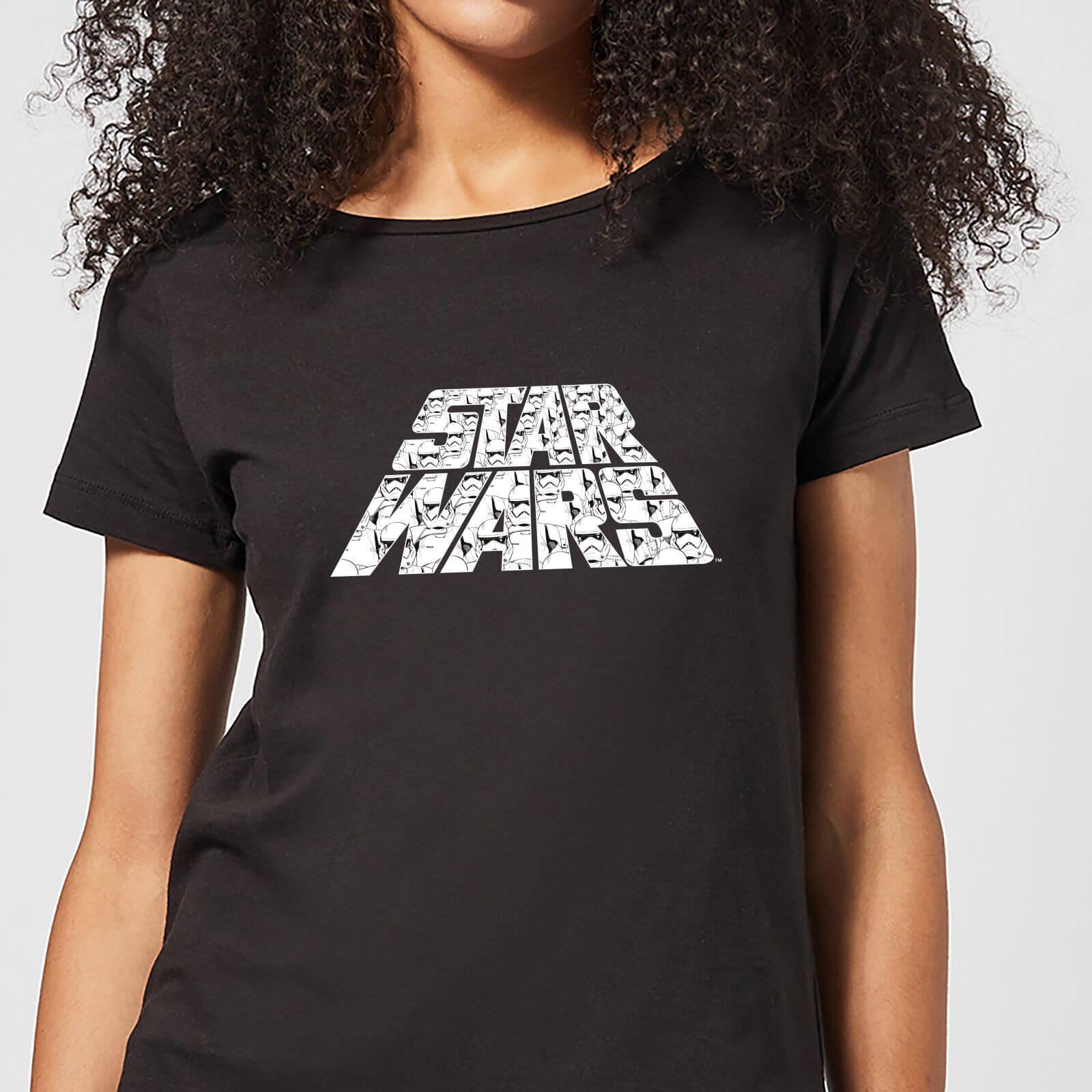 Star Wars The Rise Of Skywalker Trooper Filled Logo Women's T-Shirt - Black - XXL - Black
