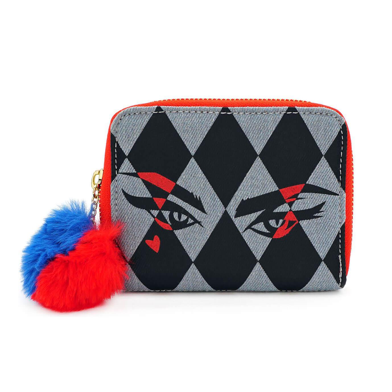 Image of Loungefly DC Comics Birds Of Prey Harley Eyes Zip Around Wallet