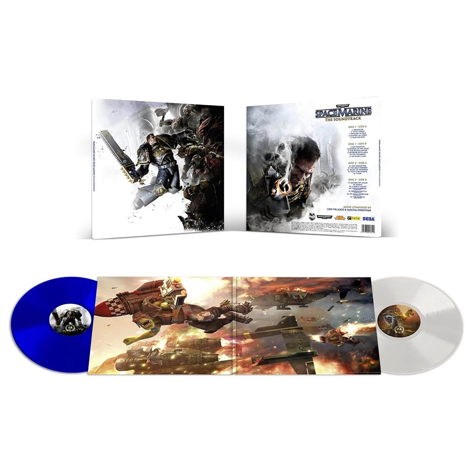 Laced Records - Warhammer: Space Marine (Original Soundtrack) 2xLP (White and Blue)