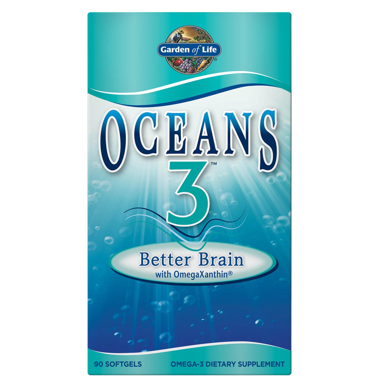 Oceans 3 - Better Brain Omega-3 with OmegaXanthin - 90 Softgels