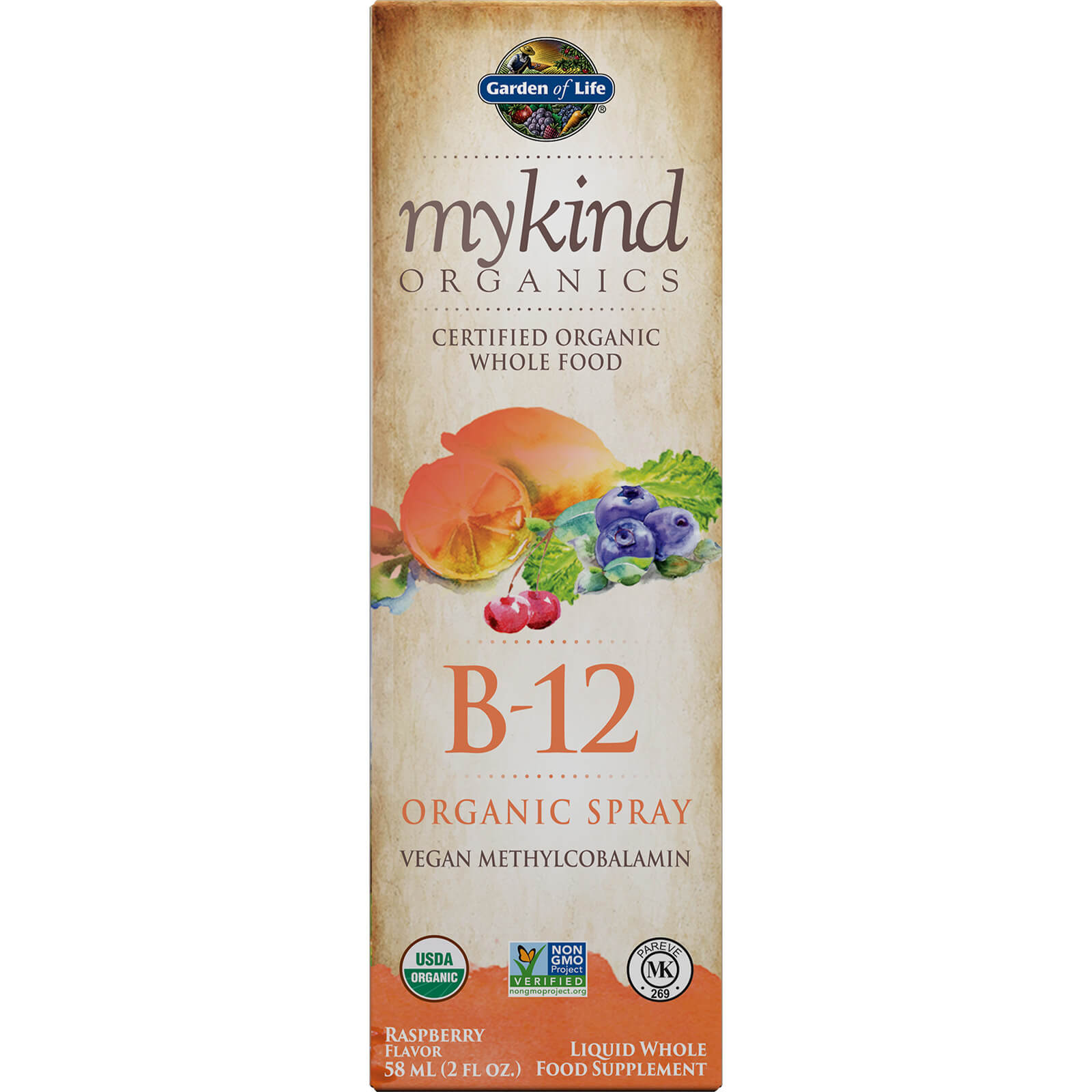 mykind Organics Vitamine B-12 Spray 58 ml