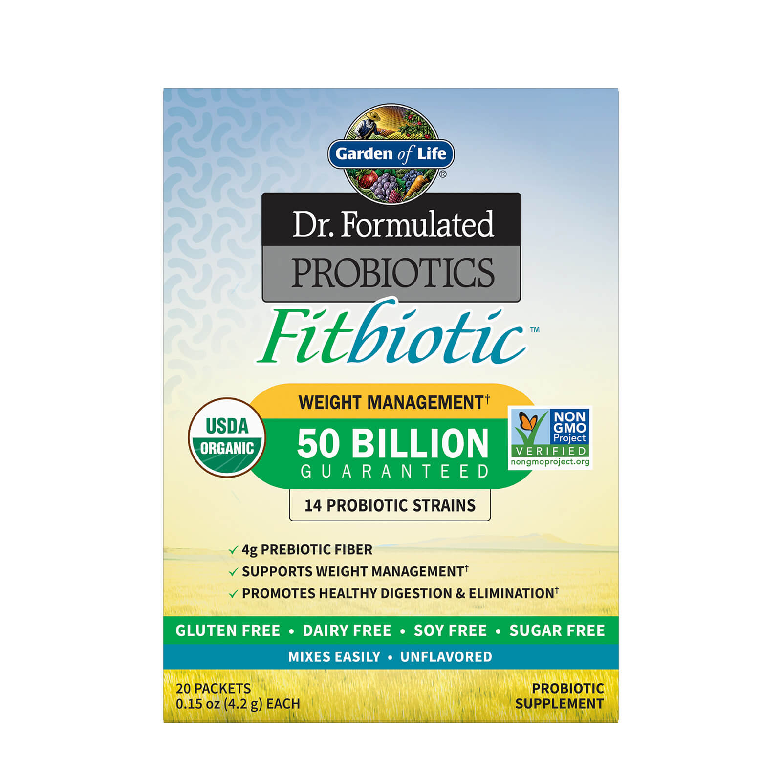 Microbioom Fitbiotisch Poeder - Niet-gearomatiseerd (pak van 20)