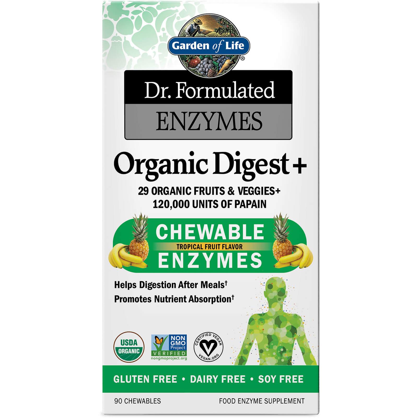 Enzymen Biologisch Spijsvertering+ - tropisch fruit - 90 kauwtabletten